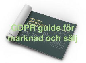 GDPR guide för marknad och sälj