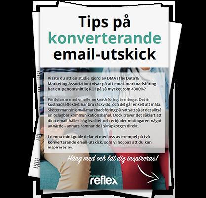 konverterande email-utskick