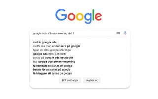Varför Google Ads? Bloggserie om googles betalda sökannonsering del 1 av 3